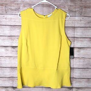 Liz Claiborne Beautiful Yellow Sleeveless Top SZ14